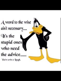 Daffy Duck Funny Quote Poster Looney Tunes Life Wall Art  All Sizes Frame