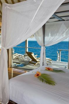 Beautiful bedroom arrangements at Hilton Nui Bora Bora Bedroom Arrangement, Boutiques, Resorts, Holiday Places, Breath Of Fresh Air, Luxury Holidays, Resort Style, South Pacific, Bora Bora