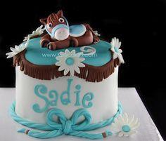 Horse cake- adorable 3rd birthday!