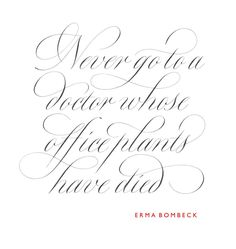 Like the calligraphy & the quote!