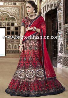 Ravishing Red Silk Lehenga Choli