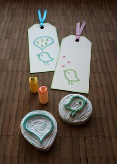 eraser stamps fever by ola smith, via Flickr bird tag