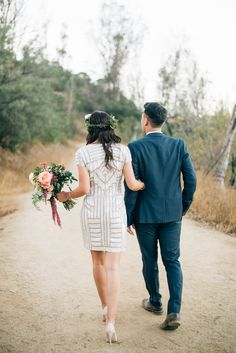 Engagement shoot at Griffith Park, Jenna Bechtholt Photography. Engagement Images, Engagement Outfits, Engagement Inspiration, White Bridal Dresses, Little White Dresses, Wedding Dresses, Wedding Jumpsuit, Wedding Gowns With Sleeves, Gorgeous Wedding Dress