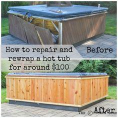 10 best hot tub steps images gardens hot tub patio jacuzzi rh pinterest com