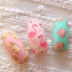 Here are some hot nail art designs that you will definitely love and you can make your own. You'll be in love with your nails on a daily basis. Fancy Nails, Trendy Nails, Pink Nails, Cute Nail Art, Cute Nails, Essie, Nail Art Designs, Pineapple Nails, Pineapple Nail Design