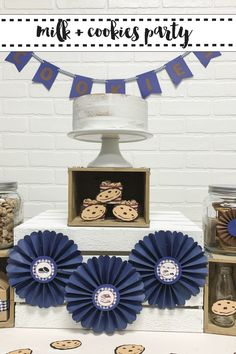 Host a delicious and darling Cookies and Milk party with tips from Everyday Party Magazine @Cricut #Sponsored #CookiesandMilk #CricutBirthday #CricutBabyShower #CookieBar