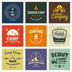 Vintage summer camp vector graphic designs | via emberstudio @ Creative Market