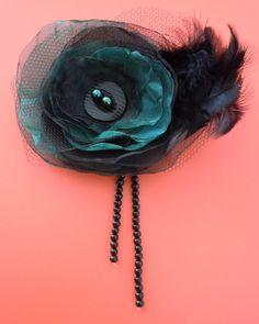 Organza Flower Corsage or Hair Accessory