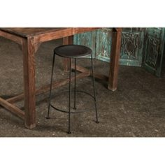 @Overstock.com - Iron Zinc-finish Bar Stool (India) - This rustic iron bar stool will add a touch of rustic chic to any bar or home environment. The stool is made from iron for long-lasting durability, with a zinc finish. The hand-crafted nature of the stool ensures that each one will be unique.   http://www.overstock.com/Worldstock-Fair-Trade/Iron-Zinc-finish-Bar-Stool-India/5989878/product.html?CID=214117 $94.99