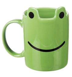 Green Frog Mug Youll be leaping for joy when you grab this super fun Frog Mug in your coffee break, what a treat! http://www.MightGet.com/may-2017-1/green-frog-mug.asp