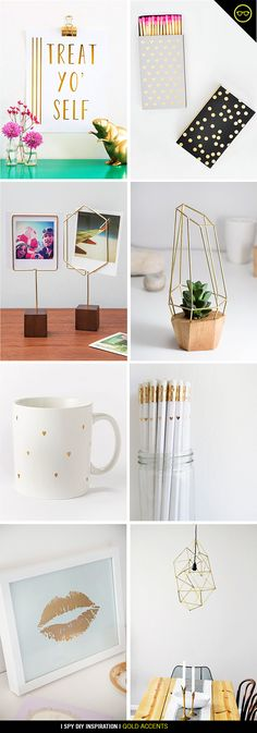 INSPIRATION | GOLD ACCENTS | I SPY DIY