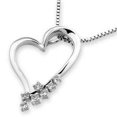 IAD  18K/750 White Gold Heart Shape Diamond by IADJewellery, $500.00