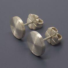 Gauge Earrings Custom Flat Disc Studs Fake Plug Sterling Silver Stud