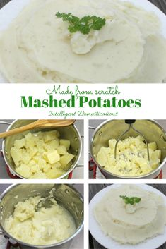 Made from scratch Mashed Potatoes are so easy you can teach the children to do…