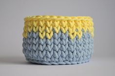 Pastel color crochet basket crochet bin storage от yanyula на Etsy