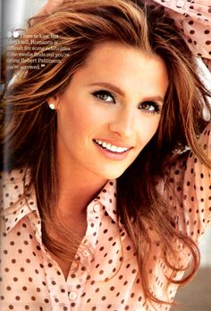 Stana Katic.   Actress.   ABC's 'Castle.'   #Longwood Elementary School   #William Henry Shaw HS   #The Print Shop  (short stint.)
