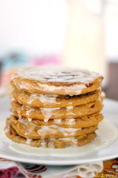 Pumpkin Cinnamon Pancakes #recipes