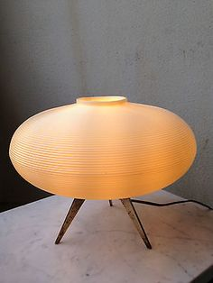 Harvey Guzzini Luigi Massoni Desk Mushroom Lamp Orange