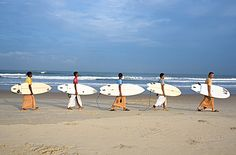 Surfing Swami's, India's first surfers