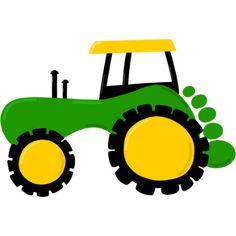 Basteln mit Fingerabdruck Traktor