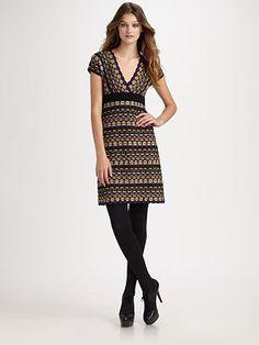 M Missoni Honeycomb Short Sleeve Dress
