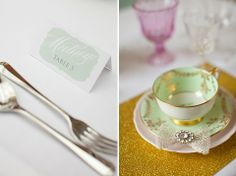 how to style a sparkle & blush wedding