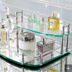 I've always wanted a vanity tray - this one is elegant (via Frontgate)