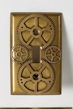 DIY Steampunk Decor - Lightswitch plate