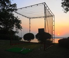 Golf Cage.. Practice until the sunset... $499 #golfcage