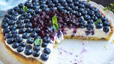 Blueberry pie Stock Photo by DanielVincek Romanian Food, Yorkshire, Acai Bowl, Blueberry, Berries, Cheesecake, Deserts, Ricotta, Food And Drink