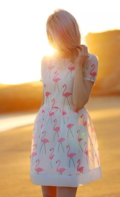 This flamingo dress from Choies is perfect for summer and hanging out at the beach.