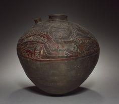 Vessel with Oculate Being, 300 BC-1 Peru, South Coast, Paracas (Cavernas) style (700 BC-AD 1), 300 B.C. to A.D. 1