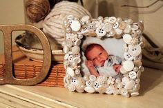 Cute as a Button frame