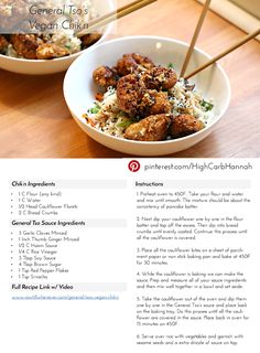 I will be adjusting this recipe when I try it - coconut aminos instead of soy; homemade sauce rather than Sriracha and coconut sugar over brown.  Lots to clean up but it just might be worth it!  General Tso's Vegan Chik'n