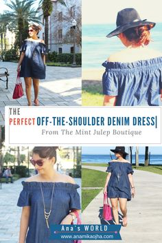 The Perfect Off-The-Shoulder Denim Dress | From The Mint Julep Boutique