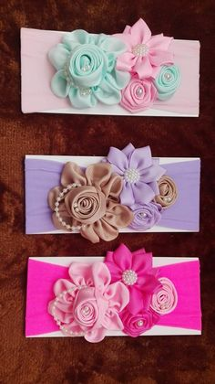 Making Hair Bows, Diy Hair Bows, Diy Bow, Flower Girl Headbands, Flower Hair Clips, Baby Headbands, Bow Hairband, Diy Headband, Hair Bow Tutorial