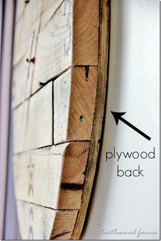 how-to-make-a-pallet-wood-clock-plywood