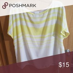 Lane Bryant Top Sheer, roomy super cute top! It is very sheer, so you'll need am undershirt). The bottom ties for a tighter fit, if wanted ☺ Lane Bryant Tops Tunics