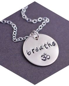 I could really use this necklace. :) Great reminder to keep my cool and go with the flow...