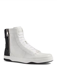 Gucci Hudson Side Zip High Top Sneakers
