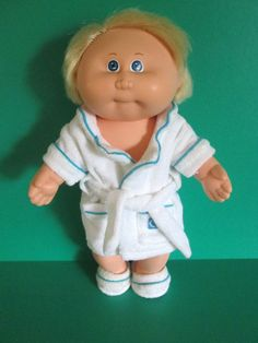 Vintage Cabbage Patch Doll Splashin Kids All Vinyl Cornsilk Hair and Clothes #DollswithClothingAccessories