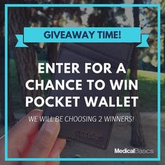 Giveaway time! Enter for a chance to win a pocket wallet. This week we will be selecting 2 winners to get a prize!  All you have to do is: 1. Follow our account @medicalbasics 2. Like this post 3. Tag three friends who may like this  Winners will be announced 2 weeks from now June 21! Must be US based to enter.  #giveaway #medicalschool #medschool #medstudent #medschoollife #nurse #nurselife #nursingstudent #nursingschool #medicalbasics #doctor #futuredoctor #futurenurse #rn #nurses…