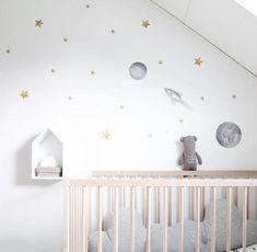 Stickstay Big Moon wall transfer in grey Star Nursery, Nursery Room, Kids Bedroom, Kids Rooms, Nursery Ideas, Scandinavian Wall Stickers, Scandinavian Nursery, Wall Transfers, Big Moon