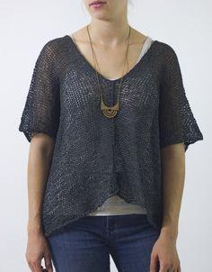 Easy, wearable. @cocoknitsjulie Helena pattern in @habutextiles wide gima.