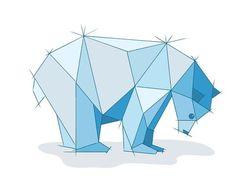 #adobedraw geometric bear