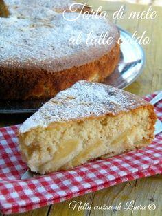 torta di mele al latte caldo - nella cucina di laura