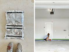 How to apply a DIY epoxy floor coating in your garage. #diy #diyproject #garage #epoxyfloor #prideinthemaking #rustoleum Rustoleum Garage Floor Epoxy, Epoxy Garage Floor Coating, Garage Floor Coatings, Epoxy Floor, Concrete Garages, Concrete Floors, Concrete Coatings, Garage Interior, Diy Epoxy