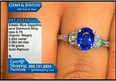 Estate blue sapphire and diamond ring. The creator of this ring recognized the beauty of this color and set the stone in platinum. Diamonds highlight the shoulders of this simple and elegant ring.