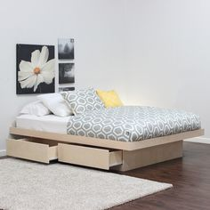 Gothic Cabinet Craft - Full Platform Bed With 2 Drawers On Tracks In Birch, $359.00 (http://www.gothiccabinetcraft.com/full-platform-bed-with-2-drawers-on-tracks-in-birch/)
