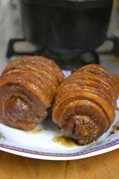 豚バラ肉(かたまり)玉ねぎニンジンにんにく☆醤油☆酒